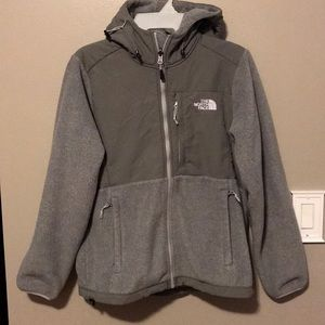 Jackets & Blazers - Gray North Face hooded zip up